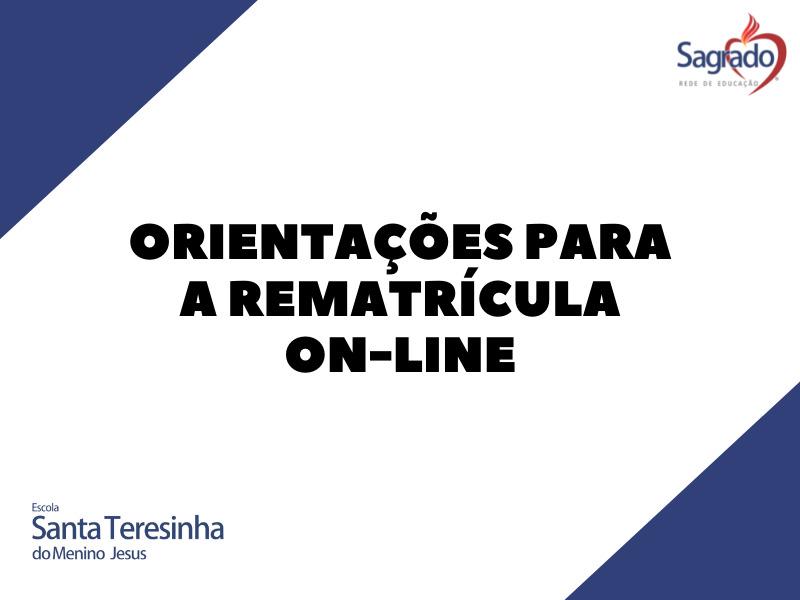 Orientações para a rematrícula on-line