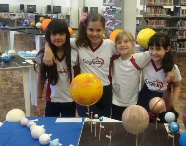 4ºs anos trazem o Sistema Solar para dentro da Unidade Educacional