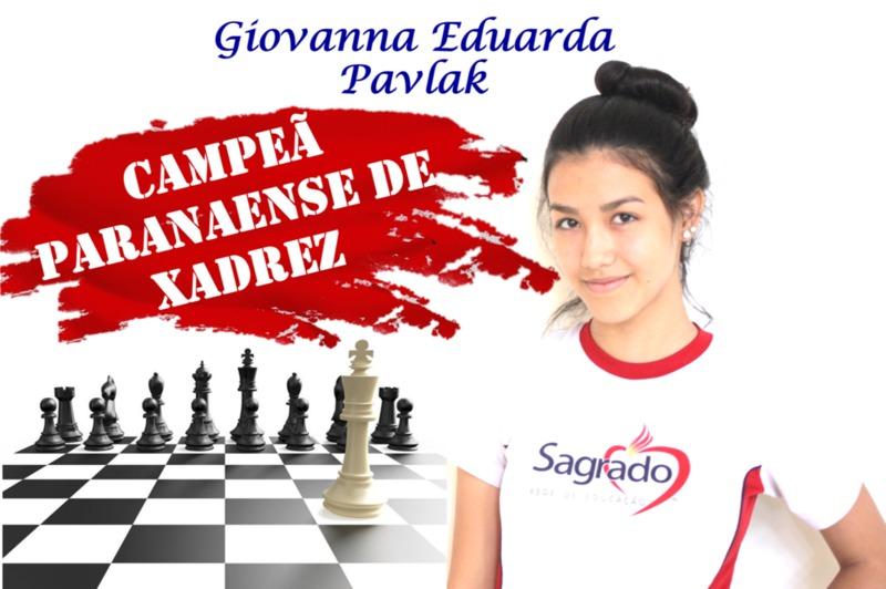 Campeã Paranaense de xadrez!