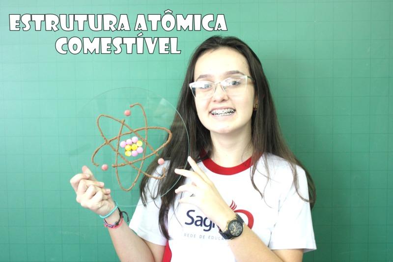 Educandos dos 8º anos realizam estrutura atômica comestível