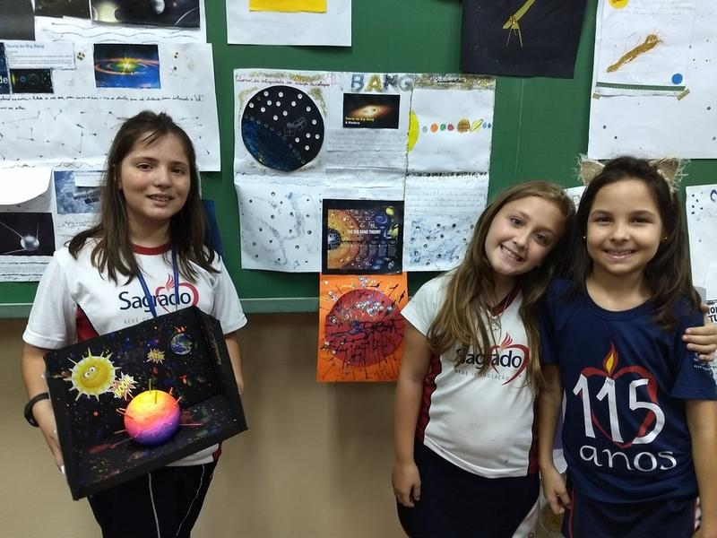 5º anos produzem e apresentam painel sobre astronomia