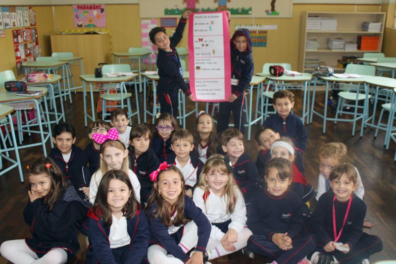 Educandos dos 1º anos apresentam carta enigmática