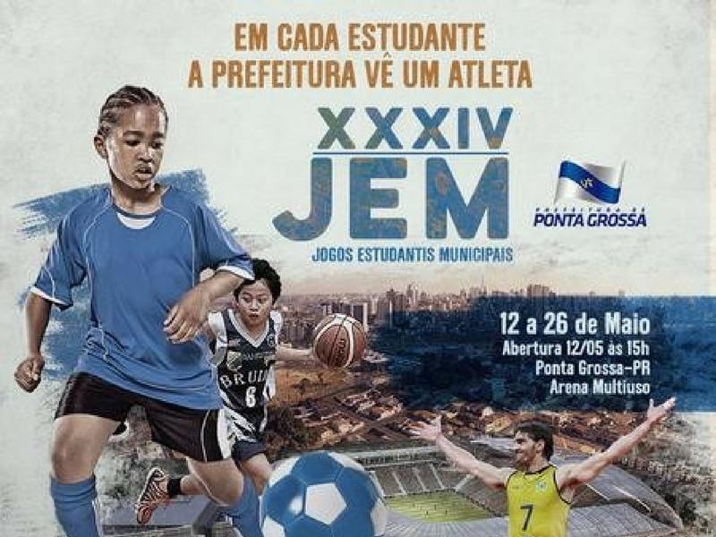 Abertura do 34º JEM 2018 em Ponta Grossa