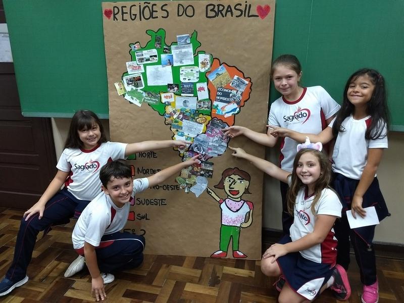 5º anos do Imaculada descobrem o Brasil