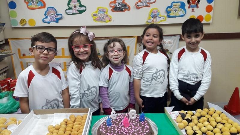 Turmas da Educação Infantil comemoram os aniversariantes do mês de Maio
