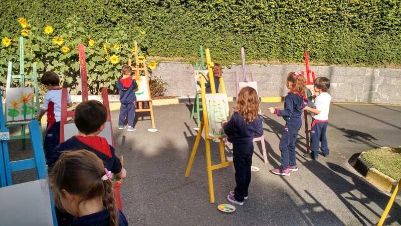 Um dia de artista no Infantil V