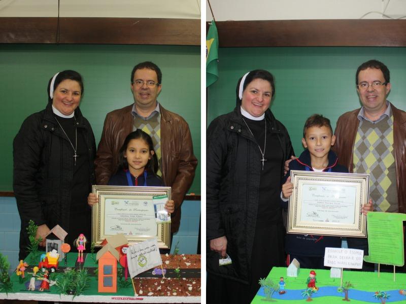 Educandos do 4º ano recebem premiação EPS