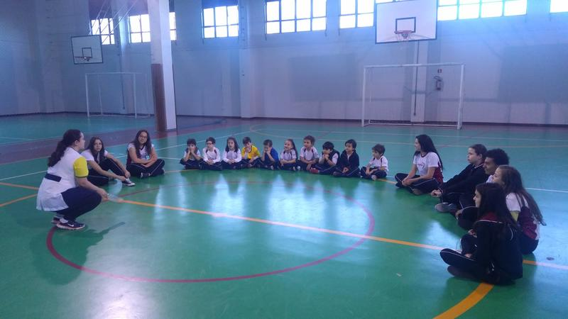 Integração de turma da 1ª série do Curso de Formação de Docentes com Infantil V