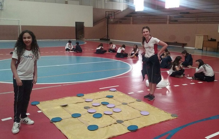 Desafios de Atletismo e Jogos de Tabuleiro com os educandos do Ensino Fundamental II