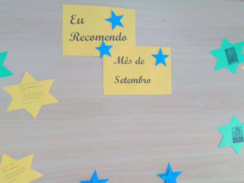 """EU RECOMENDO - SETEMBRO """
