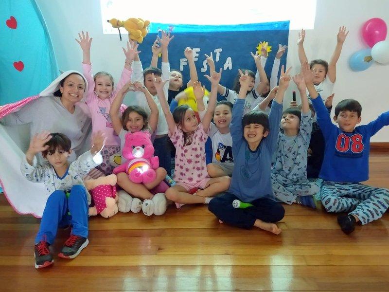 Noite do pijama na Unidade Educacional Escola São Domingos