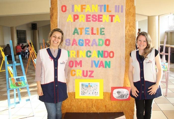 """Projeto """"Ateliê Sagrado – Brincando com Ivan Cruz"""" com a turma do Infantil III"""