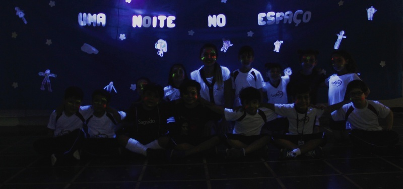 """Educandos do Infantil V participam de """"Uma Noite no Espaço"""""""