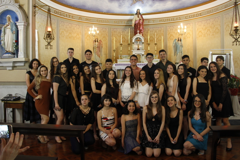 Educandos do 9º ano participam de Missa em Ação de Graças e coquetel pela Conclusão do Ensino Fundamental II
