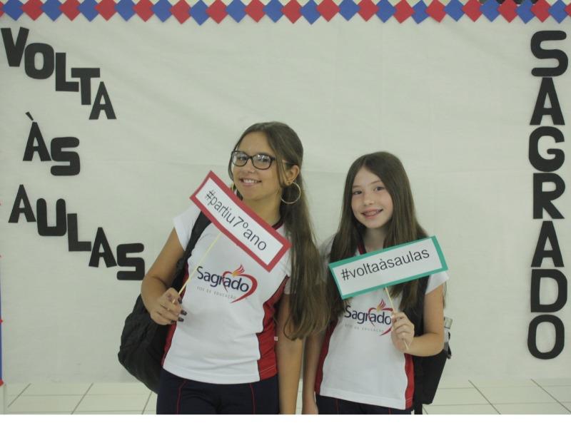 Primeiro dia de aula do SAGRADO (matutino) – Ponta Grossa/PR