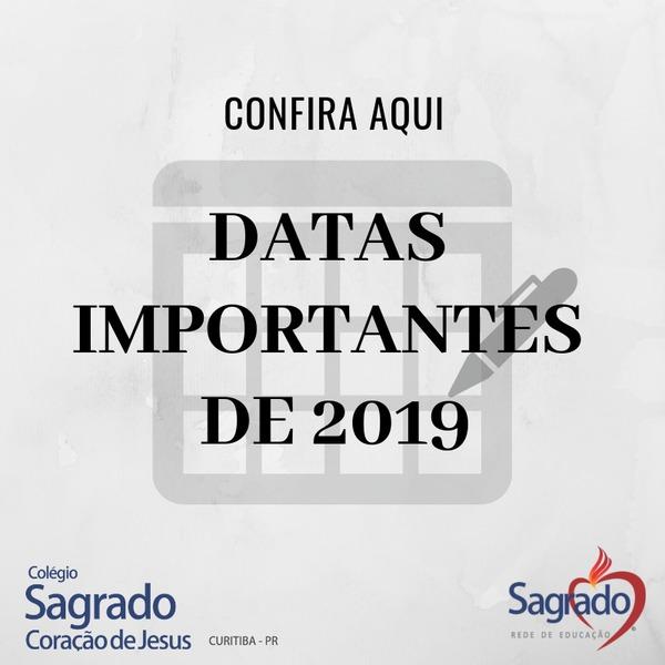 Datas Importantes - 2019