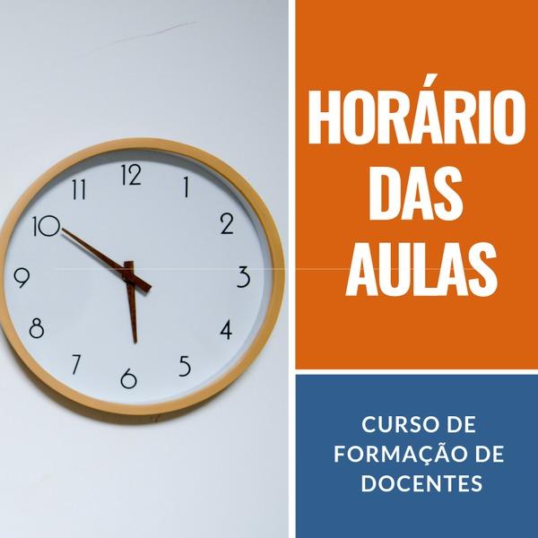 Horários do Curso de Formação de Docentes