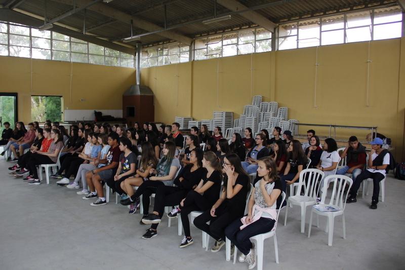 Chamadão 2019 reúne educandos do Ensino Médio do Colégio Sagrado Coração de Jesus e do Colégio Imaculada Conceição, no Recanto Sagrado