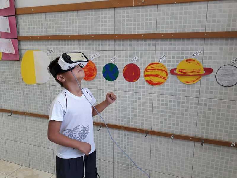 Ensino Híbrido em sala de aula: observação do Universo e suas características por meio da Realidade Virtual
