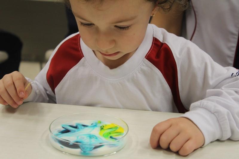 Incentivando o pequeno cientista com a mágica da química