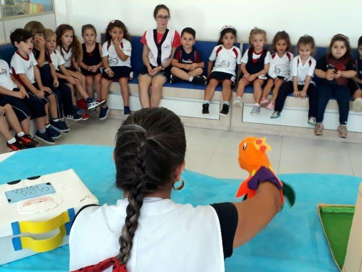 O Serviço de Biblioteca Escolar abre o Ano Literário na Unidade Educacional Escola São Domingos, dedicado a Dramaturgia