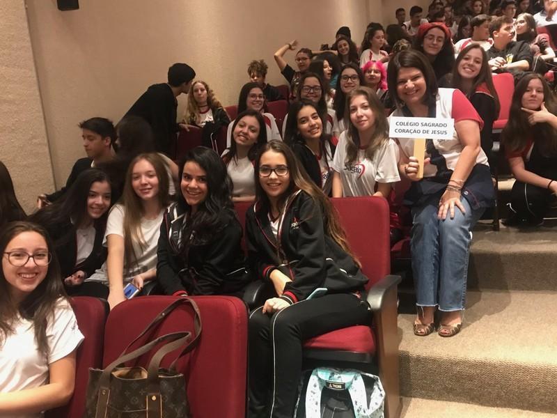 Educandos do Terceirão do Colégio Sagrado participam de Júri Simulado na UNICURITIBA
