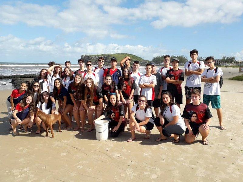 Herbários de algas marinhas da Praia da Cal em Torres – RS