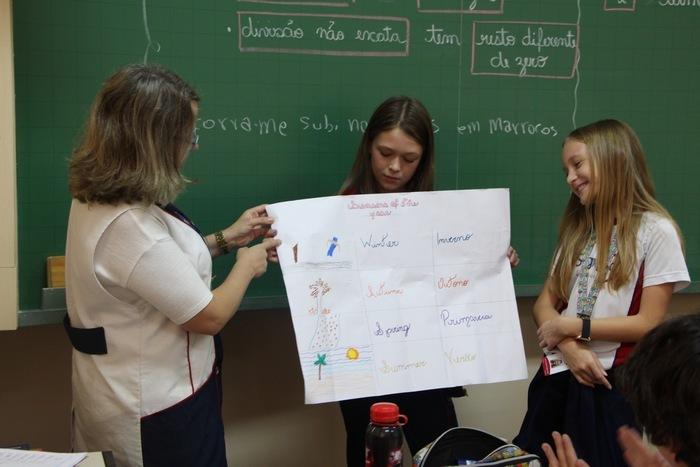 Educandos do 6º ano realizam prática de oralidade em Língua Inglesa