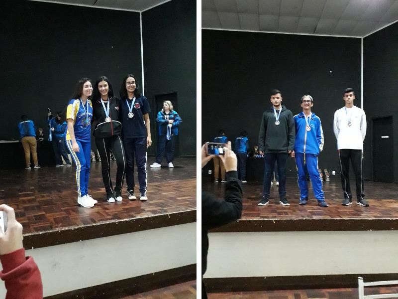 JEM - 1º e 3º lugares da Modalidade Xadrez são do SAGRADO PG