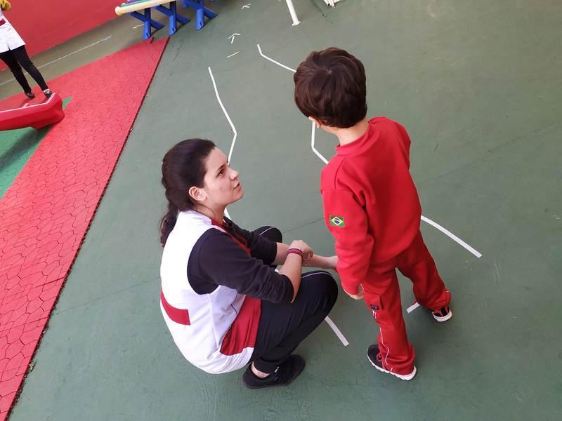 Educandas do Curso de Formação de Docentes desenvolvem circuito psicomotor para crianças da Educação Infantil
