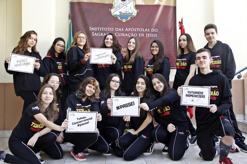 Educandos do Terceirão do Colégio Sagrado, em Curitiba, são aprovados em vestibulares de inverno