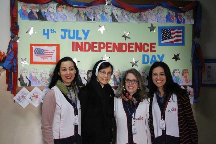 Imersão Cultural: no dia da Independência dos Estados Unidos, momento da Oração é realizado em Inglês no Imaculada