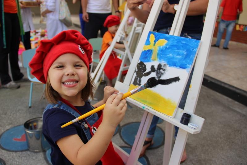 Ateliê Sagrado: crianças do Infantil III produzem sua própria obra de arte em evento do Projeto 2020