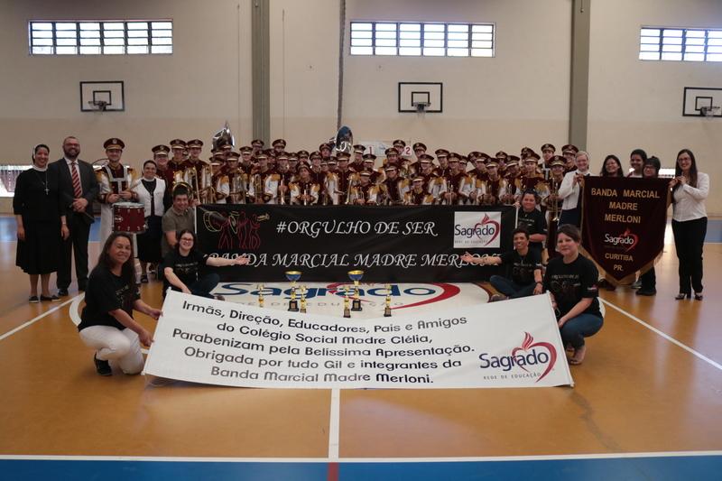 Banda Marcial Madre Merloni participa de concurso e leva seis prêmios