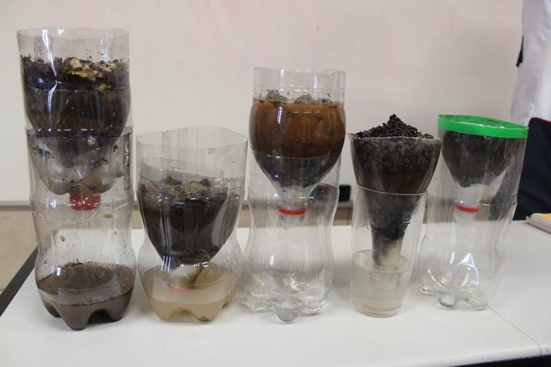 Construindo um filtro de água caseiro