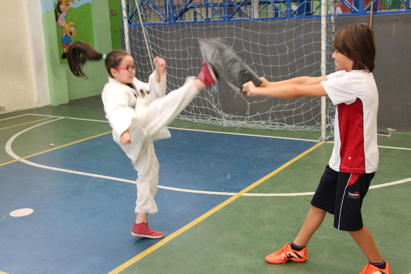 Aula de Taekwondo e defesa pessoal