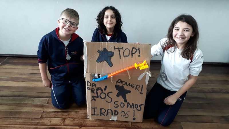 Atividade Maker: educandos do 4º ano constroem Rube Machine