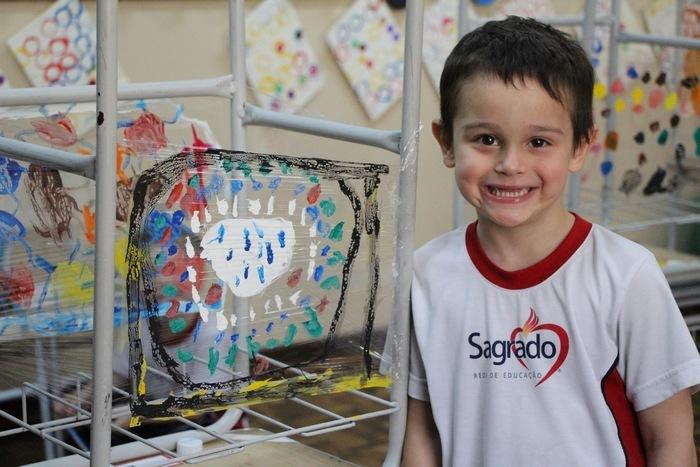 Crianças do Infantil IV recebem familiares para exposição de Obras de Arte