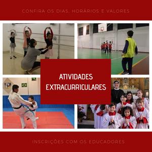 Atividades Extracurriculares 2020: dias, horários e valores