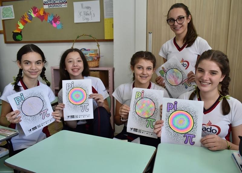 Atividade de Matemática celebra o Dia do Pi π nas turmas dos 8ºs anos