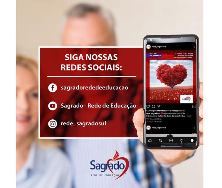 Redes Sociais do SAGRADO – Rede de Educação trazem novidades diariamente