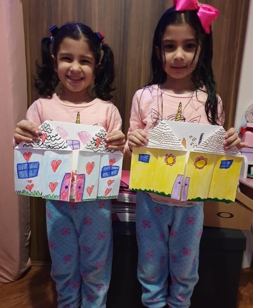 #SagradoEmCasa: música, dobradura e cantoria animam as crianças do Infantil V.1