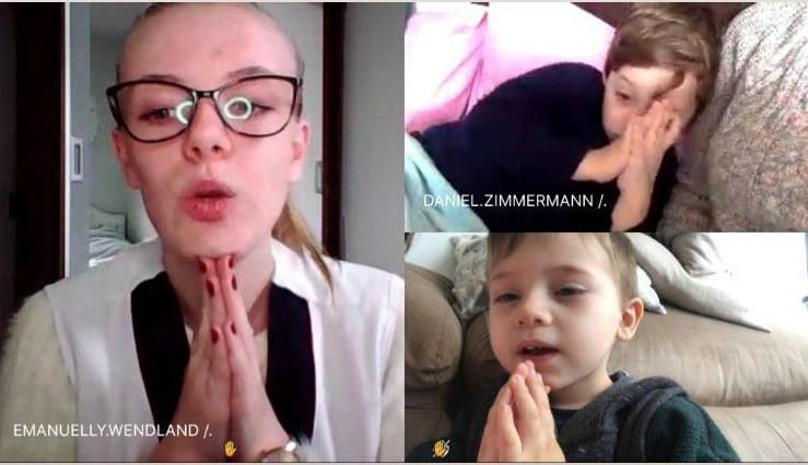 #SagradoEmCasa: Infantil III mantém rotina em casa igual à da escola, com oração, calendário e chamada