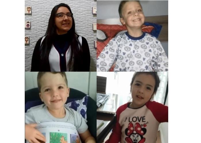 SAGRADO EM CASA: crianças da Educação Infantil IV.2 exploram a oralidade e escrita através da Contação de História