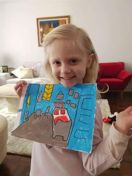 #SagradoEmCasa - Infantil V.1 faz releitura de obra de Van Gogh com tinta guache