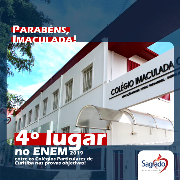 Colégio Imaculada é destaque no ENEM 2019