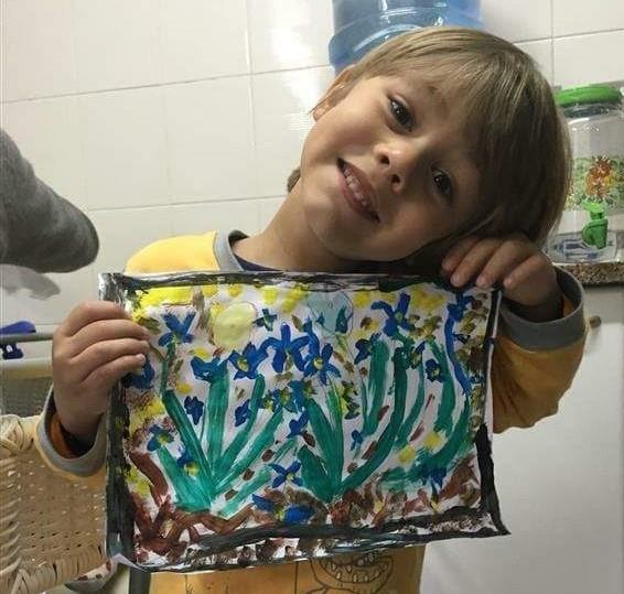 #SagradoEmCasa - Pequenos artistas: crianças fazem releitura de obra de Van Gogh