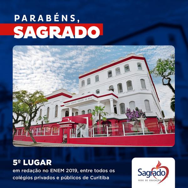 Colégio Sagrado Coração de Jesus está entre as 5 melhores notas de Redação do ENEM 2019 de Curitiba/PR