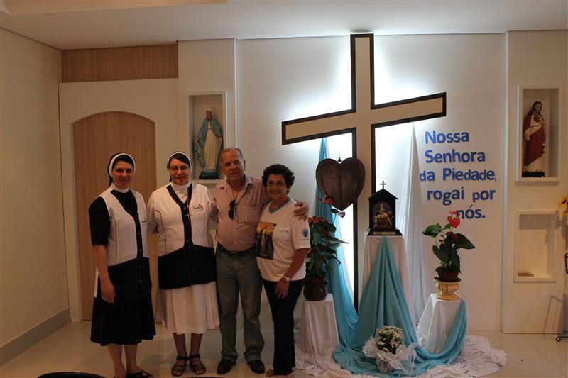 Escola Social Clélia Merloni recebe visita de Nossa Senhora da Piedade