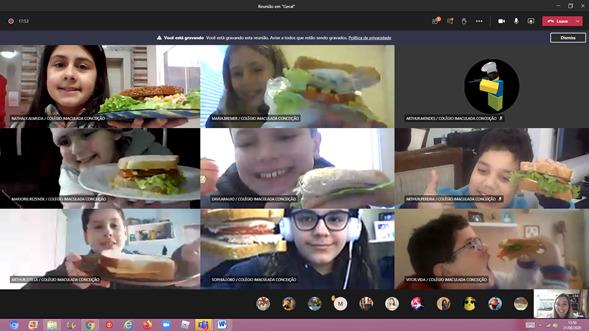 #SagradoEmCasa – Na cozinha, 5ºs anos unem conhecimentos de Matemática e Língua Portuguesa